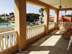 A balcony or terrace at Casa Rustica