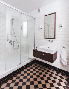 Łazienka w obiekcie Apartamenty Sowa Toruń