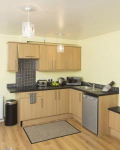 A kitchen or kitchenette at Horizon Hotel Apartments