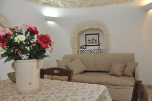A seating area at Trullo Relax