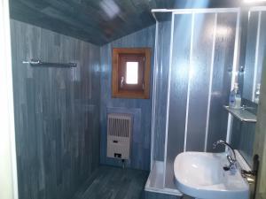 Ein Badezimmer in der Unterkunft Almhütte Stoffer