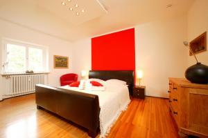Ein Bett oder Betten in einem Zimmer der Unterkunft Apartment Freiraum in den Alpen