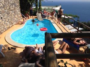 The swimming pool at or near Villa Punta del Sole