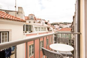A balcony or terrace at Rossio Studios