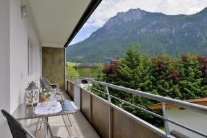 Ein Balkon oder eine Terrasse in der Unterkunft Pension Apartment Hödner
