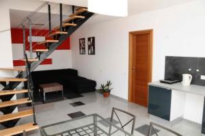 O zonă de relaxare la Apartment Vila Cube