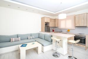 A kitchen or kitchenette at Erietta Luxury Apartments