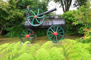 Jardín al aire libre en Cabañas de Turismo Araucarias del Sur