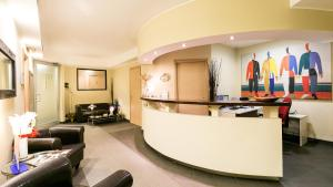 The lounge or bar area at Hotel Residenza Gra 21