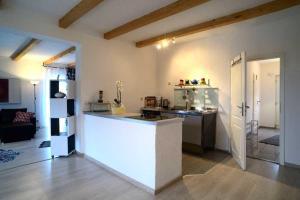 Küche/Küchenzeile in der Unterkunft Fewo Warder