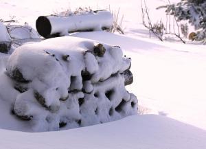 Cota 1500 - Chalé - Penhas da Saúde during the winter