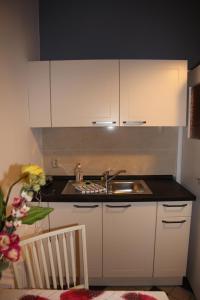 A kitchen or kitchenette at Ferienwohnung im Stieg 4