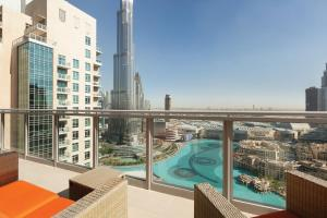 A view of the pool at Ramada Downtown Dubai or nearby
