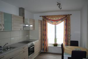 Küche/Küchenzeile in der Unterkunft Ferienwohnung zur Stadtmauer