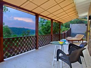 A balcony or terrace at Rock Mountain