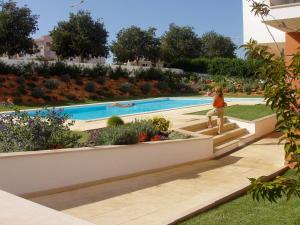 Bazén v ubytování Flamingo nebo v jeho okolí