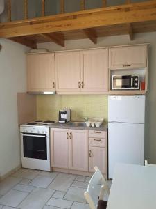A kitchen or kitchenette at Frourio Apartments