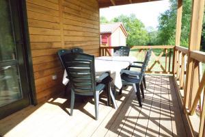 Balcon ou terrasse dans l'établissement Chalet Hertzland