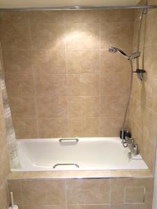 A bathroom at Deansgate Locks