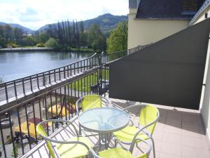 A balcony or terrace at Czech Switzerland Castle Apartments