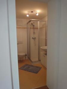 A bathroom at Villa Tuscia