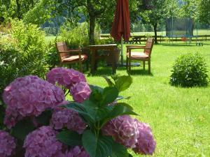 Ein Garten an der Unterkunft Haus Schmiederer