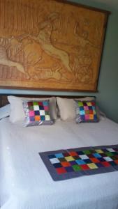 Cama o camas de una habitación en Apartop