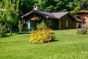 Un jardín fuera de Villa Constancia
