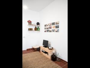 A television and/or entertainment center at Nooks Apartment