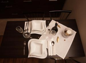 A restaurant or other place to eat at Apartament Granat