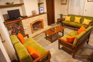 A seating area at Omodos Village Houses