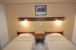 A bed or beds in a room at Irene Studios