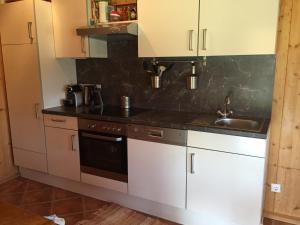 A kitchen or kitchenette at Eisenberg Chalet