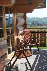 Patio lub wspólna przestrzeń na świeżym powietrzu w obiekcie Sun&Ski Maciejówka