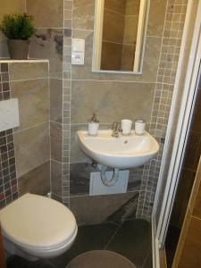 Ένα μπάνιο στο Dlouha Apartments City Center