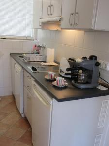 A kitchen or kitchenette at Szundi Apartman