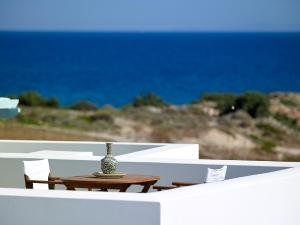 A balcony or terrace at Asterias Boutique Hotel