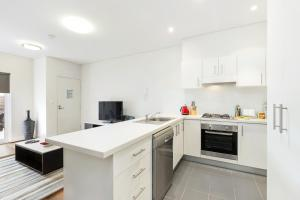 A kitchen or kitchenette at Glebe Self-Contained Modern One-Bedroom Apartments