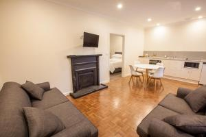 The lounge or bar area at The Mill Apartments Clare Valley