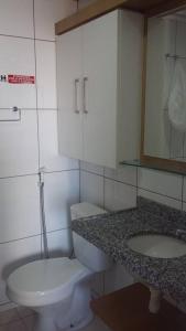 A bathroom at Flat Studio Iracema