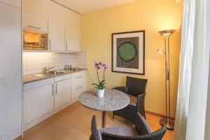 A kitchen or kitchenette at Apartments zum Löwen