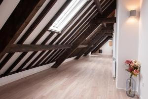 Een stapelbed of stapelbedden in een kamer bij Ruyge Weyde Logies
