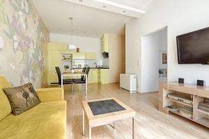 Poilsio erdvė arba baras apgyvendinimo įstaigoje Central Krak Apartments