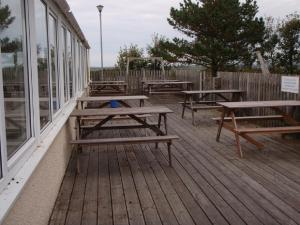 A porch or other outdoor area at Chalets & Lodges at Atlantic Bays Holiday Park