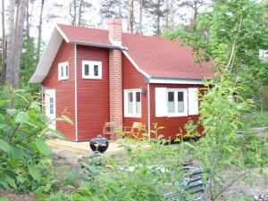 Ein Garten an der Unterkunft Schwedenhaus im Grünen