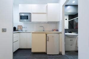 A kitchen or kitchenette at Suites Garden Loft Miro