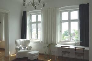 Ein Sitzbereich in der Unterkunft Katharinas Apartment