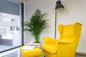 Uma área de estar em Aveiro Urban Loft