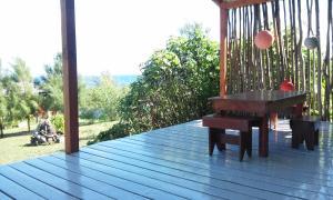 A porch or other outdoor area at Cabaña Tuki Rapa Nui