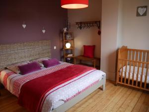 Un ou plusieurs lits dans un hébergement de l'établissement Gîte La Bertinière à 15km d'Honfleur